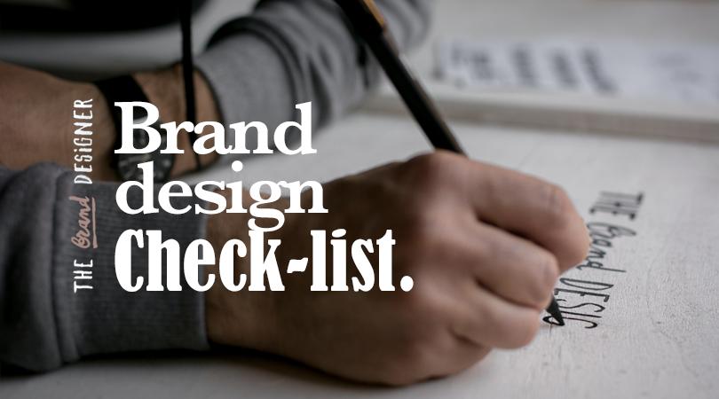 Brand design check-list