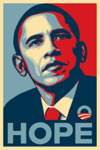 "Il famoso poster ""Hope"" di Barak Obama"