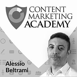 Brand design: Content Marketing Academy di Alessio Beltrami