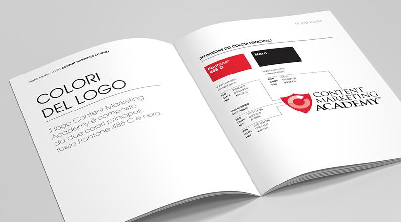 Brand book, pagina con colori del logo | The Brand Designer