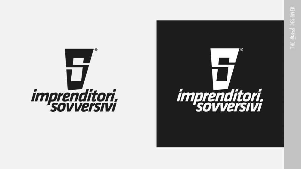 Test negativo e positivo del logo Imprenditori Sovversivi
