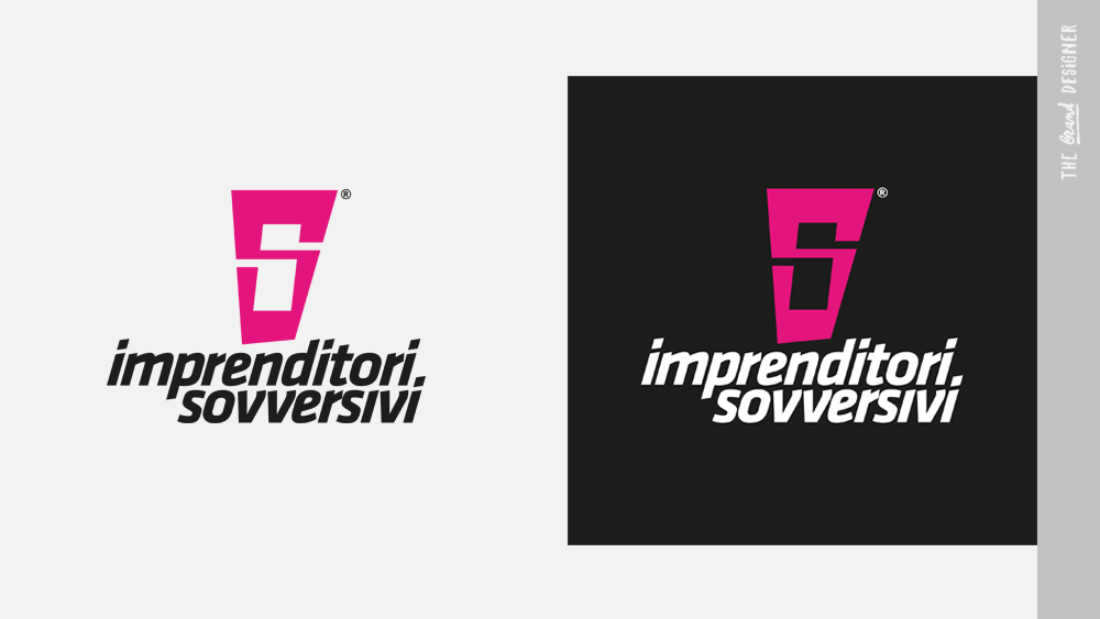 Test negativo e positivo a colori del logo Imprenditori Sovversivi